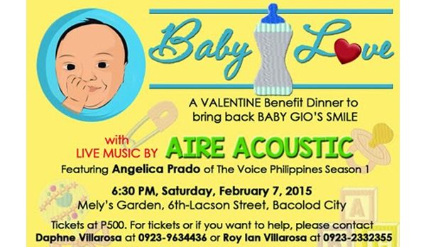 Baby Love–A Pre-Valentine Benefit Dinner for Baby Gio