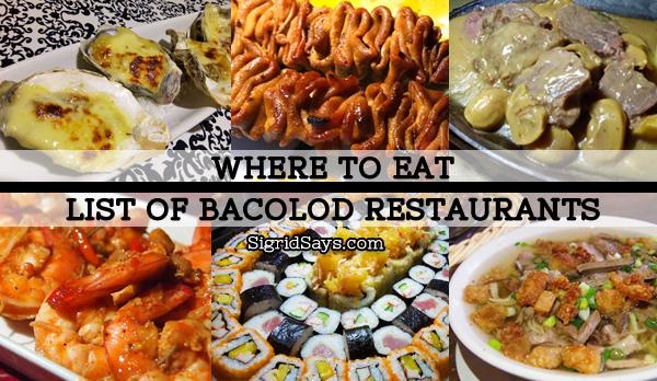 List of Bacolod restaurants