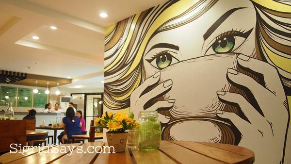mural at Roli's Cafe Bacolod