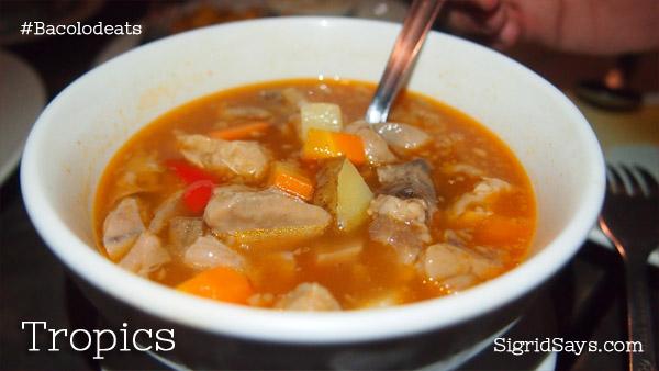 Soup No. 5 at Tropics
