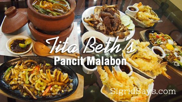 fiilipino favorites - Bacolod restaurant - Tita Beth's Pancit Malabon Haus