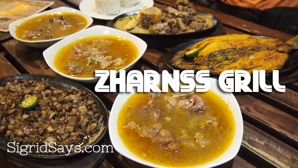 Filipino dishes at Zharnss Grill