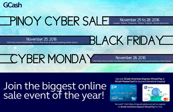 Globe GCash American Express Virtual Card Joins Black Friday