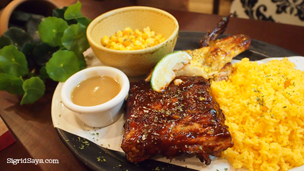 Peri-Peri chicken and back ribs platter