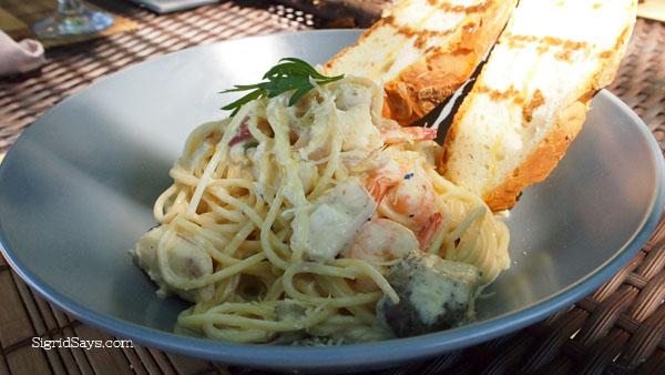 seafood pasta at Punong Gary's Place