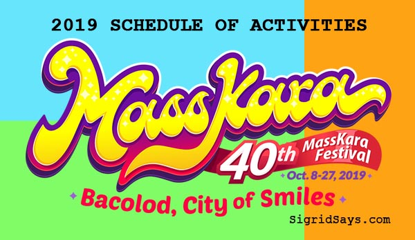 Bacolod MassKara Festival 2019 Schedule of Activities