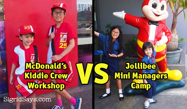 McDONALD'S KIDDIE CREW Vs. JOLLIBEE MINI MANAGERS