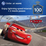 CARS 3 Movie Tickets for NEW GLOBE AT HOME Customers