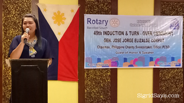 ELENA GATANELA: 49th President of ROTARY BACOLOD SOUTH