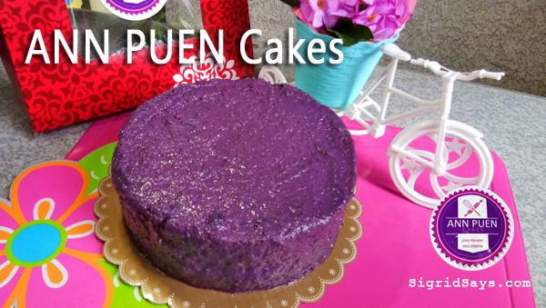ANN PUEN Cakes: Taste Real of UBE