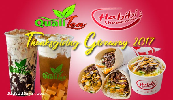 Qualitea and Shawarma Habibi Thanksgiving giveaway