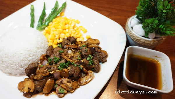 Bacolod restaurants - Cookies 'N Crumbs Cafe and Restaurant - full course dinner - entree - tenderloin salpicao