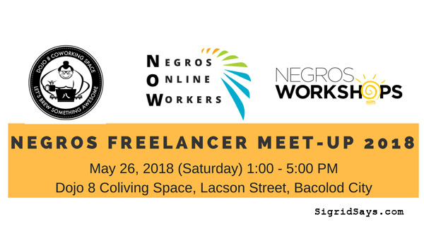 Negros Freelancers Meet Up 2018 to be held in Bacolod