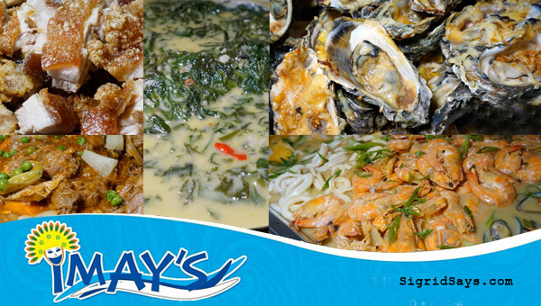 Bacolod restaurants - Imay's Bar and Restaurant - Pinoy native foods - seafoods