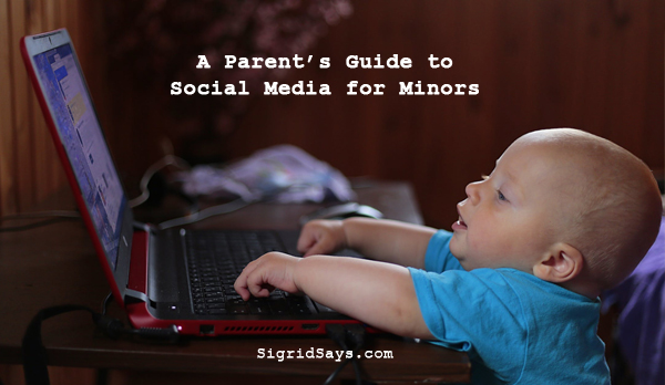 social media parent's guide - parenting in the digital age - parents monitoring social media use - baby on a laptop