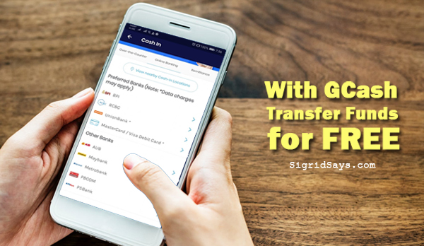transfer funds for free with gcash - Gcash - cash in from banks - Bacolod blogger- smartphone