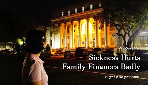 Sickness Hurts Family Finances Badly