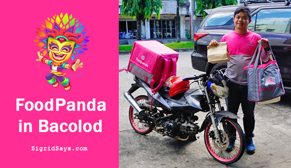 FoodPanda in Bacolod - food delivery service - Bacolod restaurants - Bacolod blogger - Wilmar Enterprises - gambas - crepes - KBL - milk tea -delivery guy