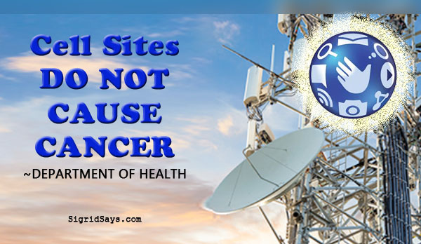 cell sites doa not cause cancer - health - Filipinos - Globe Telecom - Department of Health - Bacolod blogger