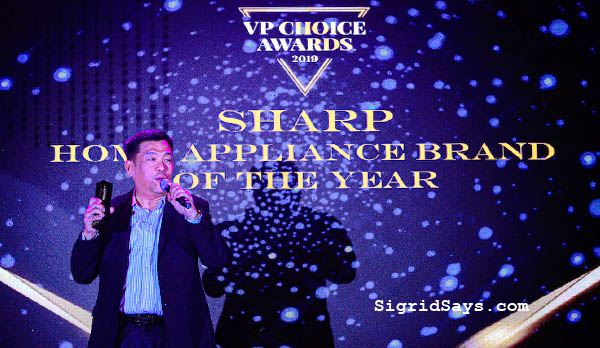 Sharp Philippines - Home Appliance Brand of the Year - VP Choice Awards 2019 - Bacolod blogger