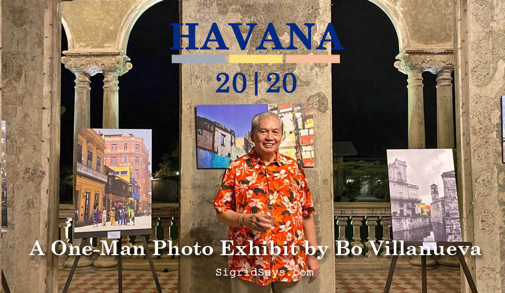 Talisay Photographer Bo Villanueva - Havana Cuba - one-man photo exhibit - Bacolod blogger - tourist in Cuba -vintage cars - flora shirt big