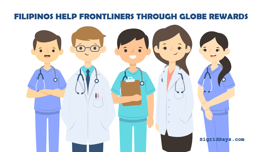 help frontliners - doctors and nurses drawing - Globe Rewards - Globe Telecom - Bacolod blogger - covid19