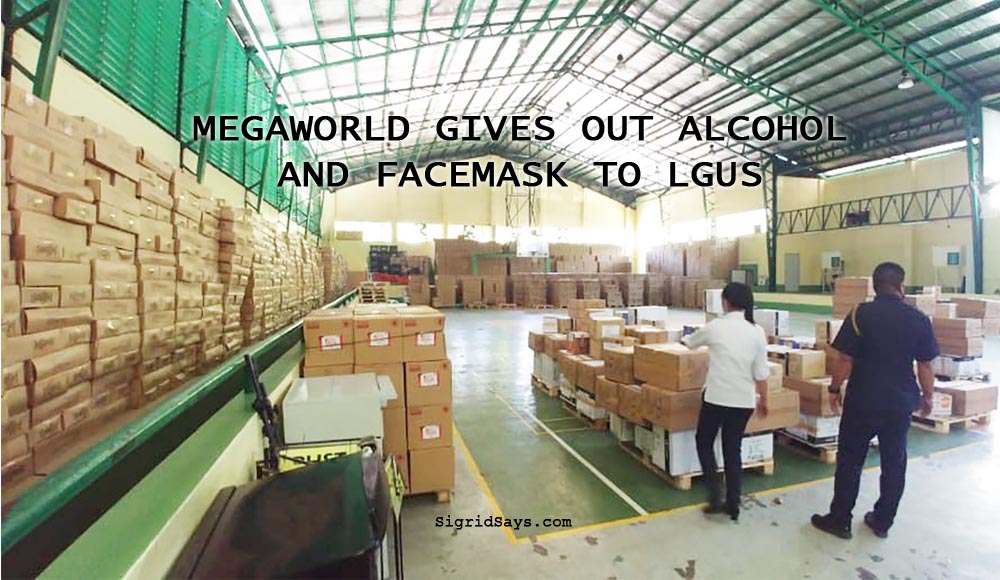 Megaworld Allocates 1,000 Liters of Alcohol, 5,000 Face Masks for Bacolod