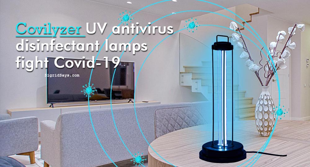 Covilyzer UVC Sterilization Lamps - UVGI - Bacolod blogger - Covid-19- UV room sanitizer - living room