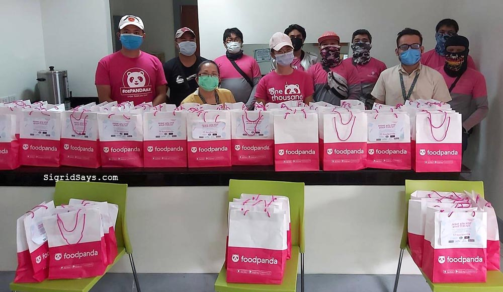 foodpanda food delivery - Bacolod restaurants - Bacolod City - Covid-19 frontliners - Bacolod blogger - Cebu City - pink riders