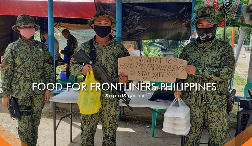 Food for Frontliners Philippines - Covid-19 - NGO - donate - GCash - Paymaya- Shopee - soldiers