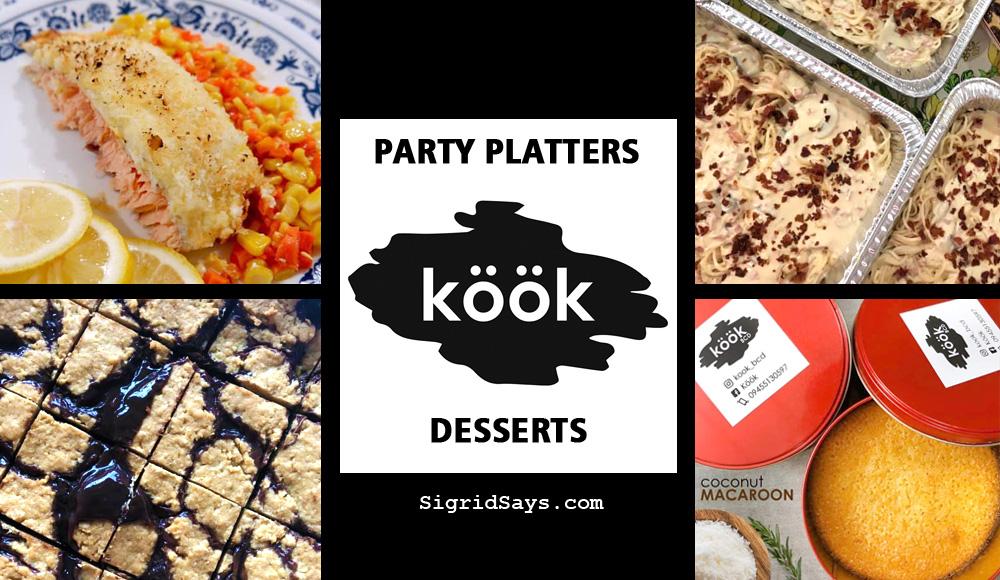 Bacolod party platters and desserts - Bacolod online food seller - Kook BCD - Bacolod eats - food - quarantine eats