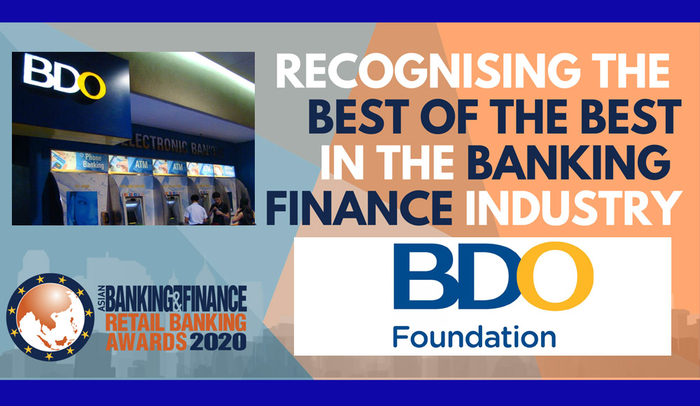BDO Foundation Honored by Asian Banking & Finance for 4 Years
