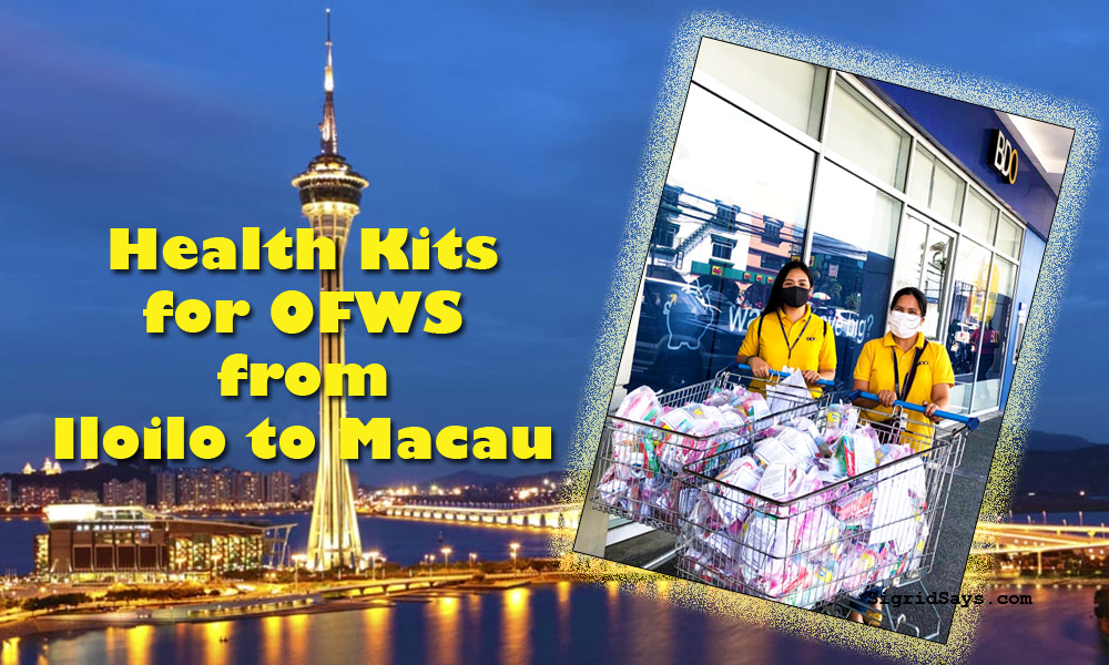 BDO Remit - OFWs - balikbayan - free health kits - Covid-19 - flight to Philippines - Iloilo - Macau - proper hygiene - Covid-19 safety - face masks - face shield at the airport