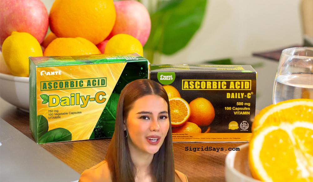 Daily-C non-acidic Vitamin C - Catriona Gray - Sante Barley - boost immunity - Covid-19 - high-dose vitamin C