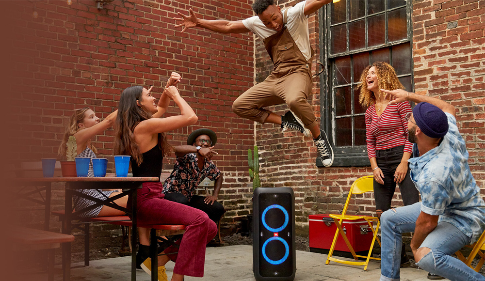 JBL headphones and speakers - JBL partybox - squad goals - party music - fun - friends