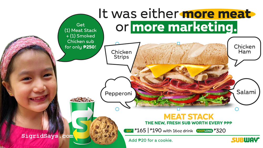 Subway sandwich - Meat Stack - sandwich meal - Subway meat stack sub - less marketing - more meat - meat lovers - fully loaded meat sandwich