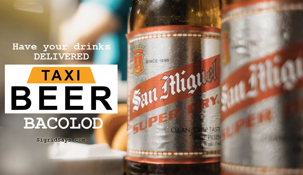 Beer Taxi Bacolod - beer delivery service - drinks delivery Bacolod - ice-cold drinks - beer- have your drinks delivered