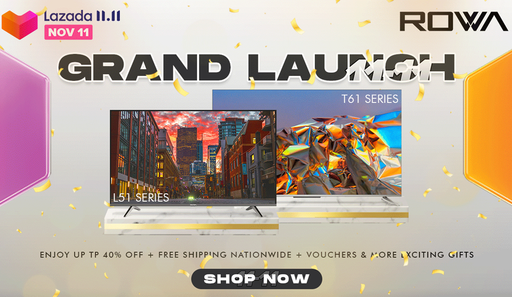 ROWA consumer electronics - Lazada 11-11 biggest one-day sale - online shopping - free delivery - promo -free shipping nationwide - voucher