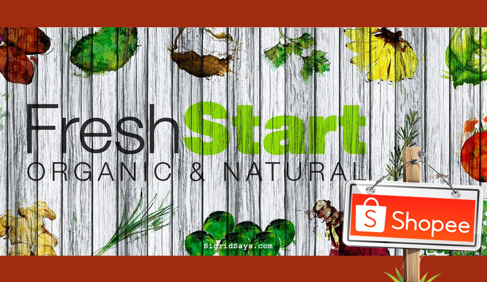 Fresh Start Organic Store - organic produce - organic rice - organic coffee - organic bath products - Shopee - online shopping - natural products on Shopee