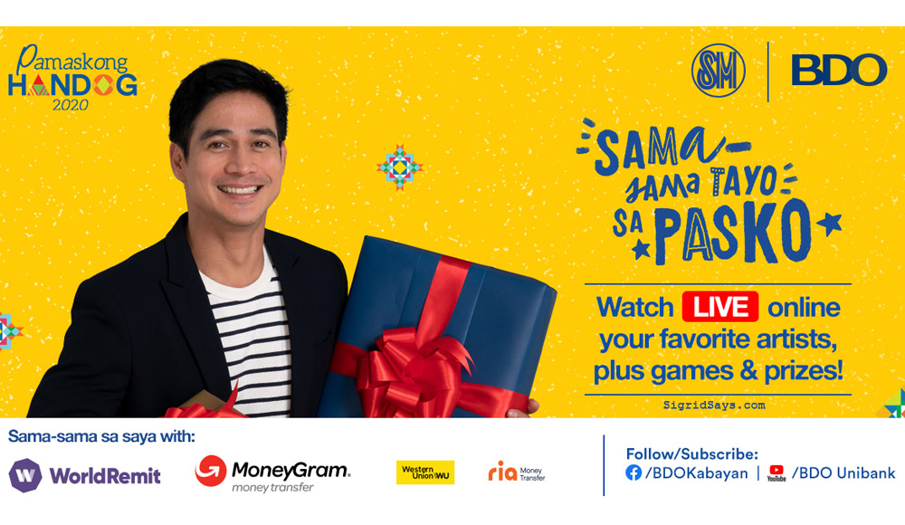 Catch Piolo Pascual at BDO and SM Virtual Pamaskong Handog 2020