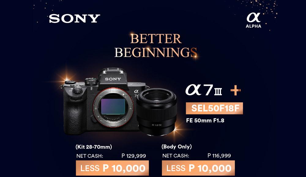 Sony Cameras - Sony Philippines - New Year Bundles - promo - sony store on Shopee - Sony lens - kit lens - promos