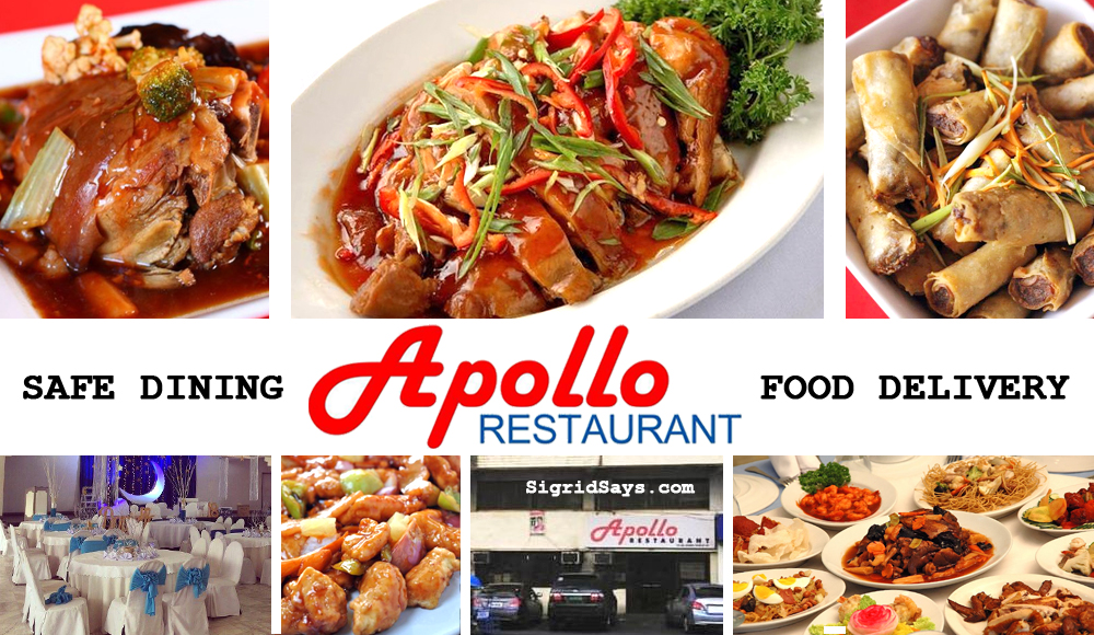 Apollo Restaurant Bacolod safe dining protocols - food delivery services - Chinese restaurant in Bacolod - Bacolod restaurant