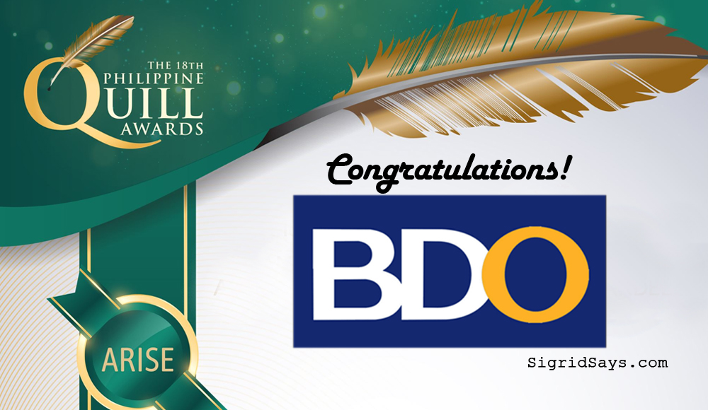 BDO Bags Philippine Quill Awards for Effective Communications