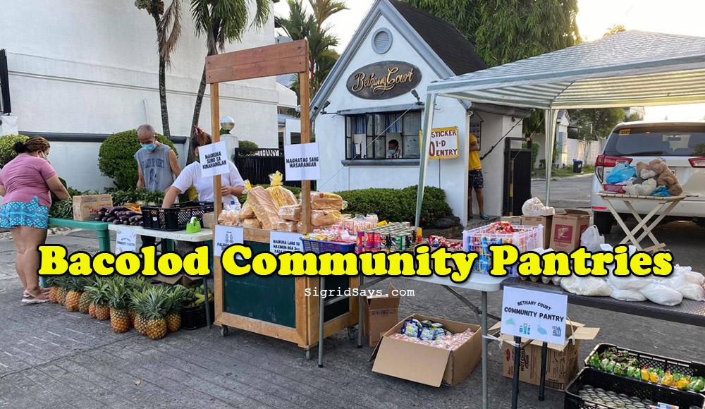 Bacolod community pantry - Barangay Estefania Community Pantry - sharing - caring - charity - Covid-19 pandemic - Bethany Court