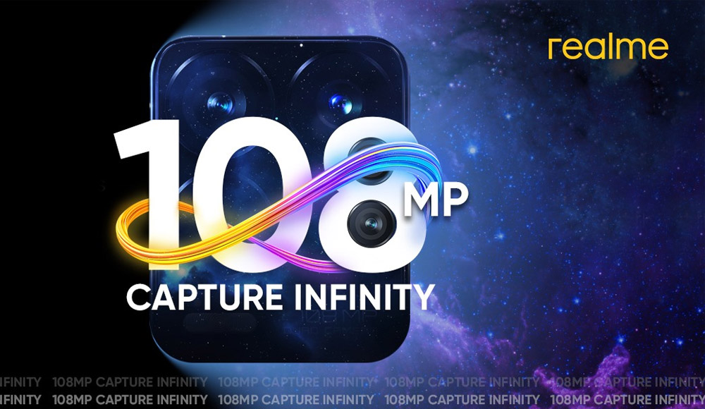 realme smartphone 108MP camera sensor technology - smartphone photography - social media posts - picture quality - quad lens - capture infinity