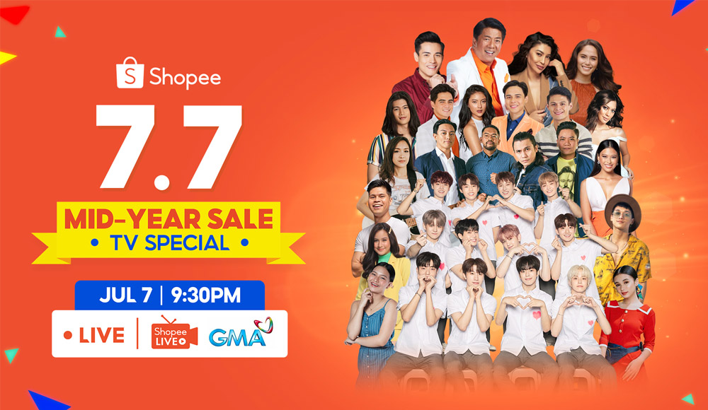 ₱7 Million Worth of Prizes at the Shopee 7.7 Mid-Year Sale TV Special